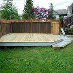 The deck was built on a sloping part of the yard that wasn't usable before